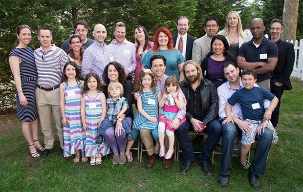 Members of the Class of 1994 with their partners and families