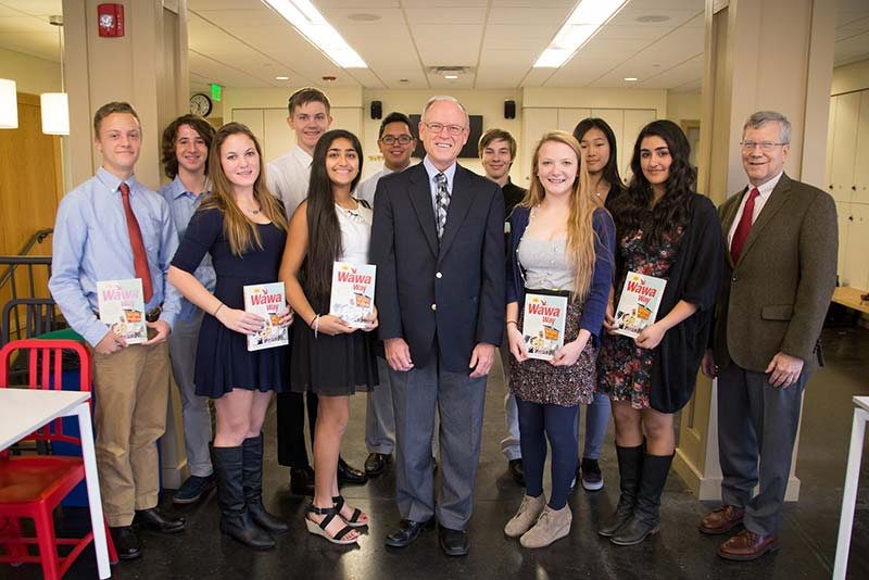 Former CEO of Wawa with MFS Students