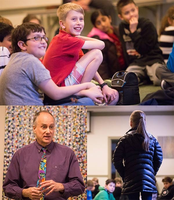 Storyteller David Novak at Moorestown Friends School