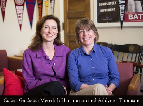 College Guidance: Meredith Hanamirian and Ashlynne Thomson