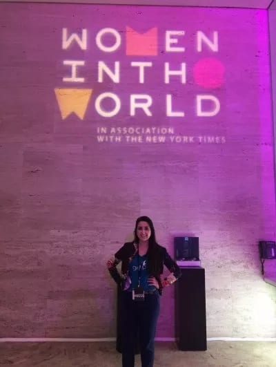 Alexis Tsapralis at the Women in the World Summit