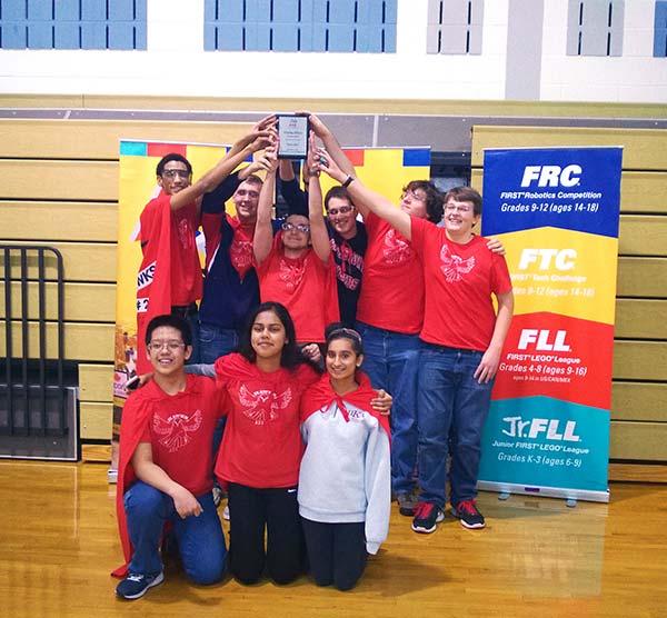 Robotics Team Wins FIRST® Tech Challenge Winter Meet