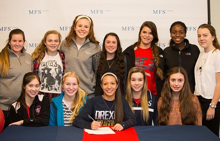 Senior Soccer Player Signs National Letter of Intent