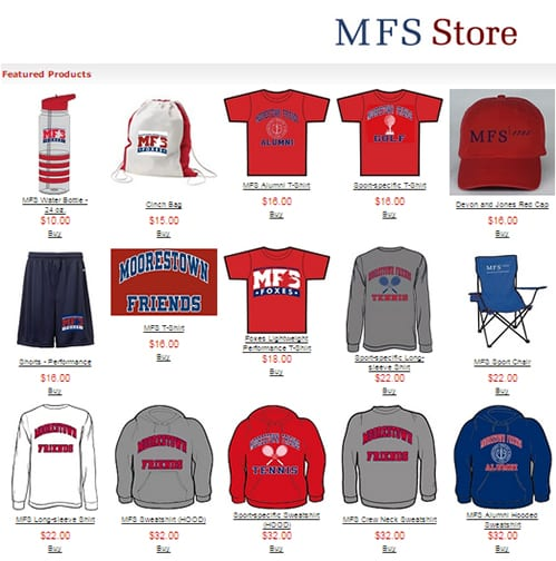 Red & Blue Club Presents the MFS Online Spring Apparel Sale
