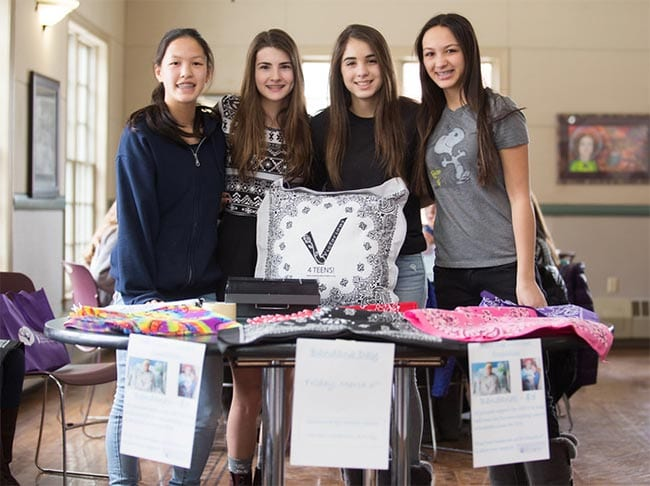 Middle School Students Lead Bandana Sale To Benefit Teens Battling Cancer