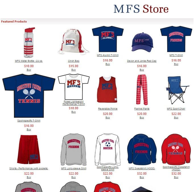 MFS Fall Apparel Sale: September 1-11
