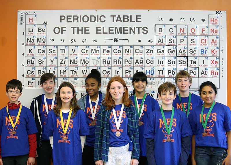 Middle School Science Olympiad Team Qualifies for States
