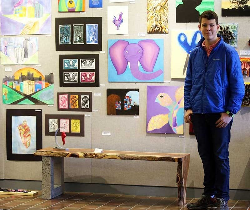 Student Earns First Place in Heart Art Competition
