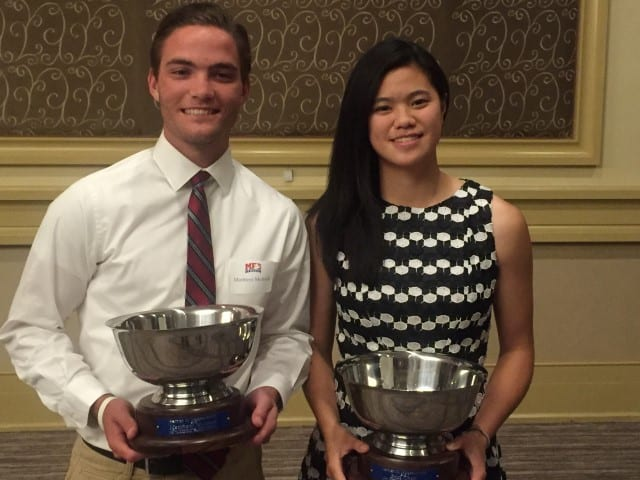 Two Student Athletes Receive Herm Magee Award at Varsity Sports Night