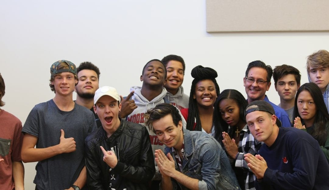 Songwriting Students Enjoy Visit from Pop Recording Artists