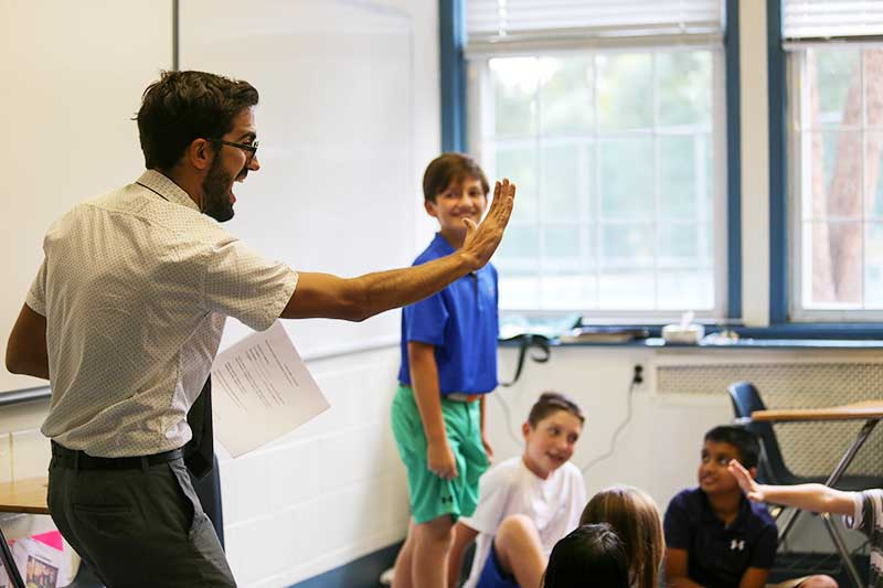 Sixth Grade French Students Thrive with Immersive Language Teaching Method