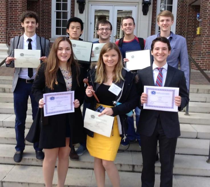 Moorestown Friends School Model UN award winners