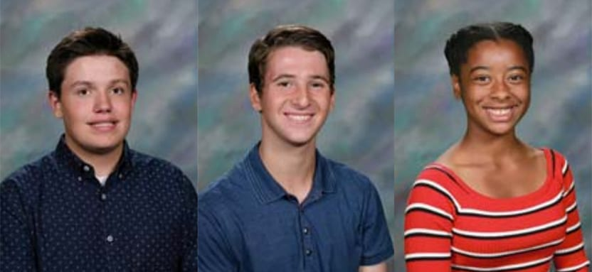 Three Students Recognized for Top Performance Results on PSAT/NMSQT