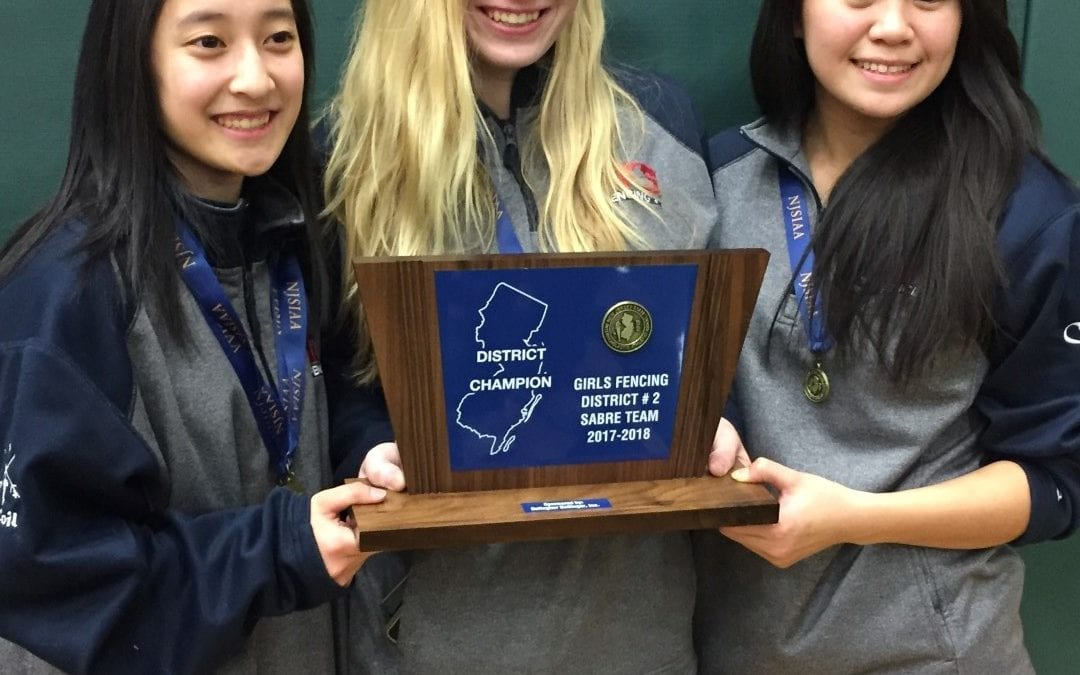Girls' Fencing Sabre Squad Wins NJSIAA District 2 Championship