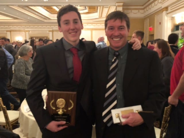 Boys' Soccer Player and Coach Receive Honors at All-South Jersey Soccer Banquet
