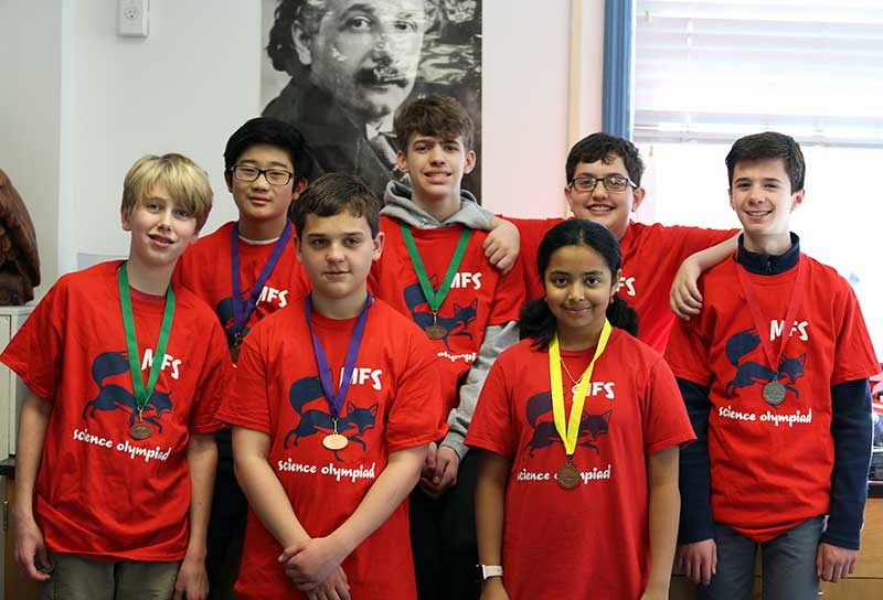 Middle School Science Olympiad Team Wins Eight Medals