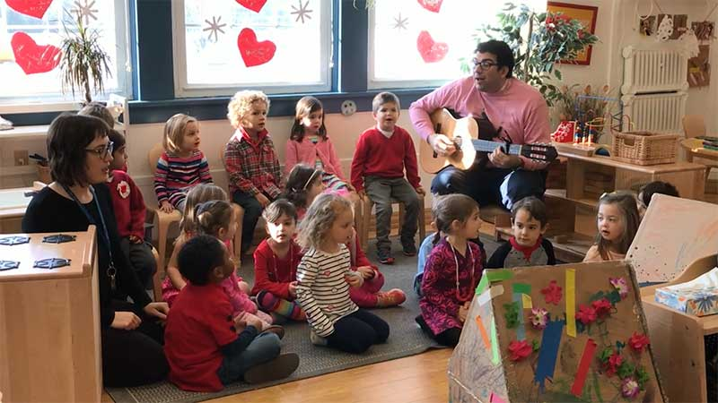 "Preschool Sings ""One Love"" for Valentine's Day"