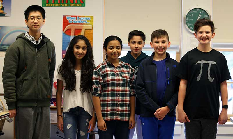 Middle School Team Competes at MATHCOUNTS Competition