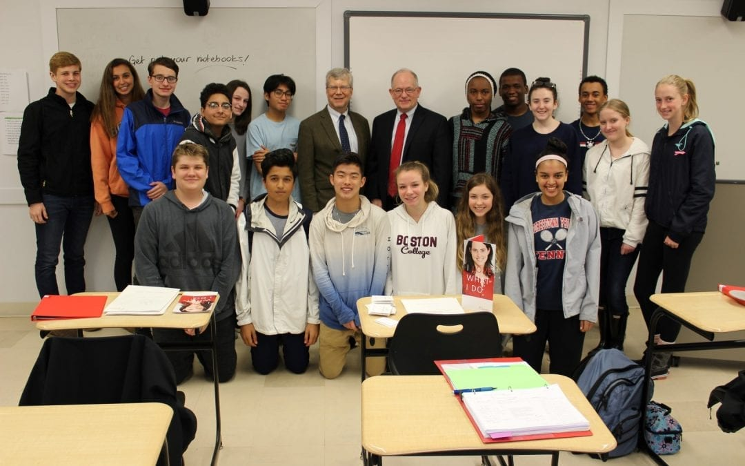 "Bayada Home Health Care Founder and President Mark Baiada Visits ""Leadership and the Quaker Dimension"" Class"