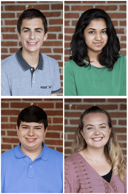 Four Students Inducted Into National Student Journalism Honor Society