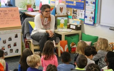 Community Visits Introduce Kindergartners to 8 MFS Faculty and Staff