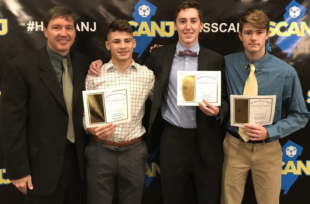 Three Boys' Soccer Players Receive Honors