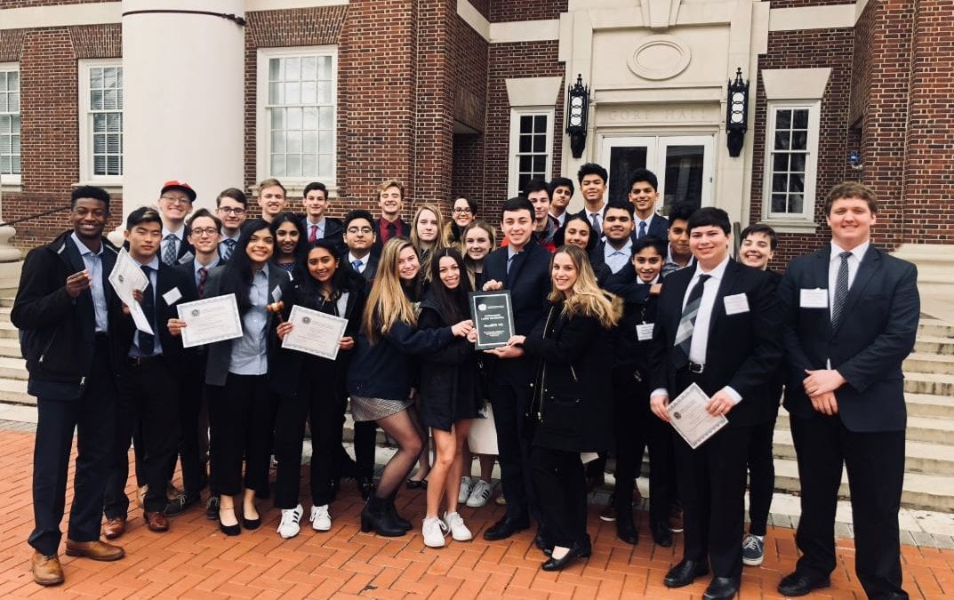 MFS Wins Best School Delegation at 2019 University of Delaware Model UN Conference