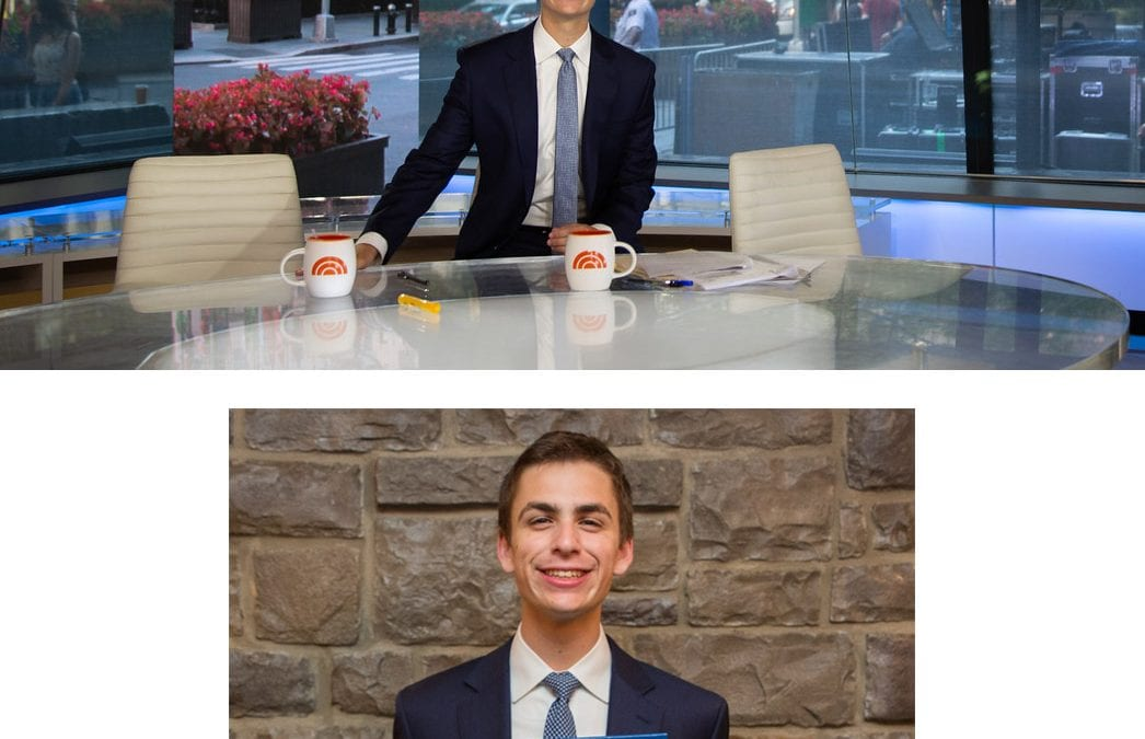 Andrew Rowan '19 Named New Jersey High School Journalist of the Year