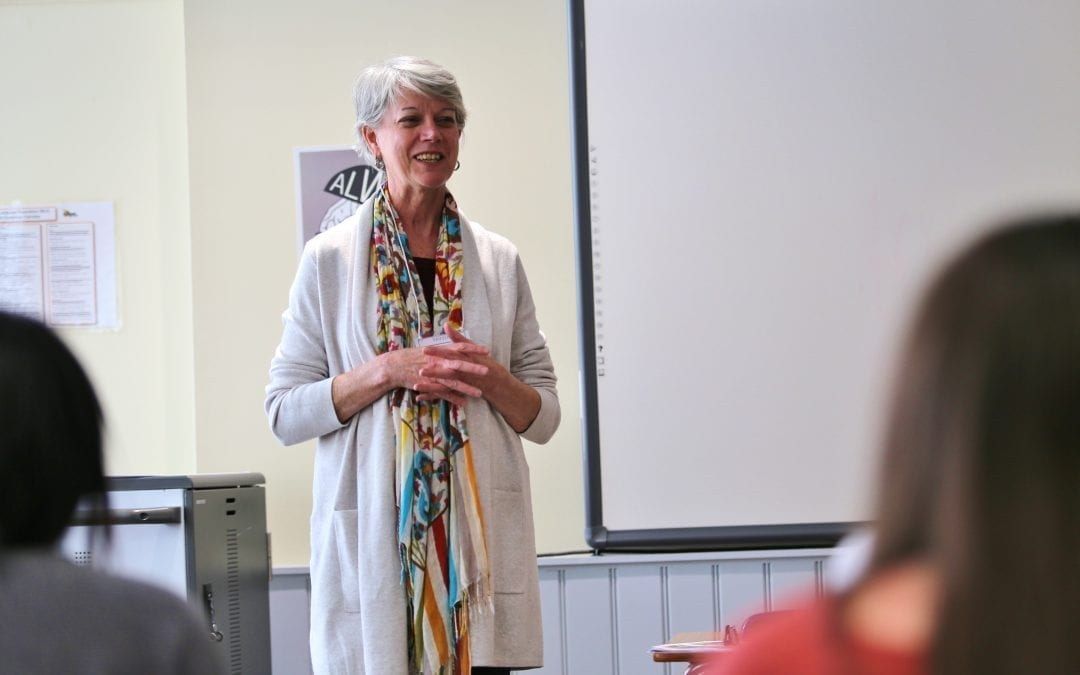 Diane Randall, Executive Secretary of Friends Committee, Visits Upper School Leadership Class