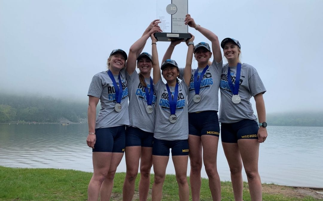 Sujin Kim '18 and Michigan Teammates Capture Big Ten Rowing Title