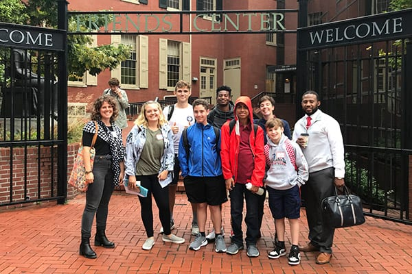 Middle and Upper School Students Participate in Quaker-Based Decision Making Workshop in Philadelphia