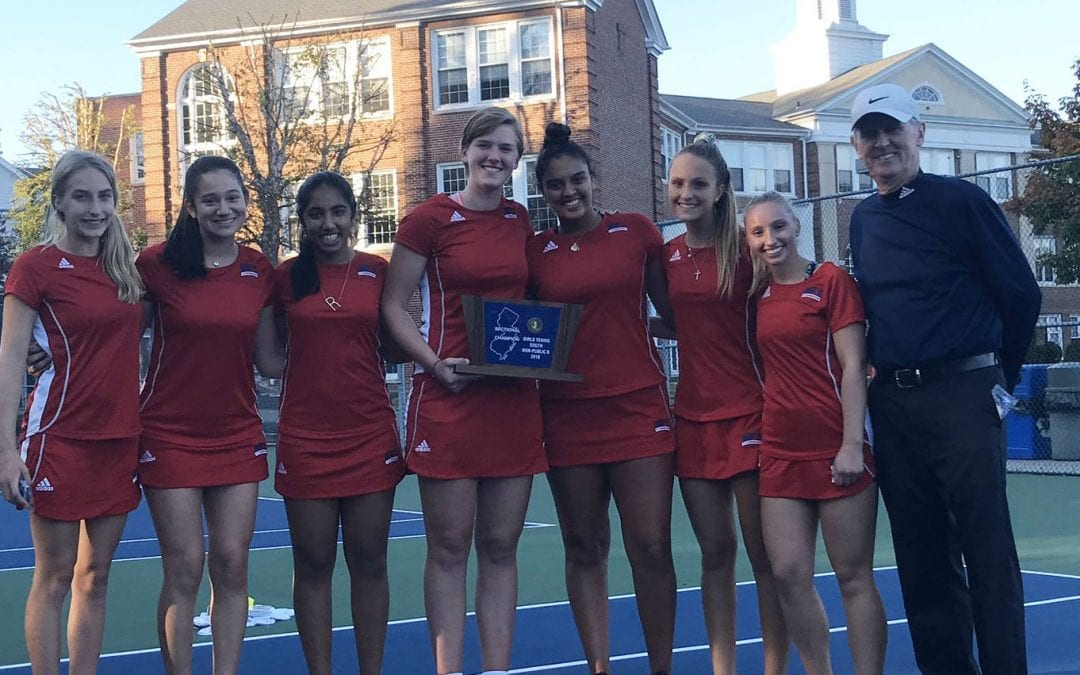 Girls' Tennis Captures Ninth South Jersey Championship