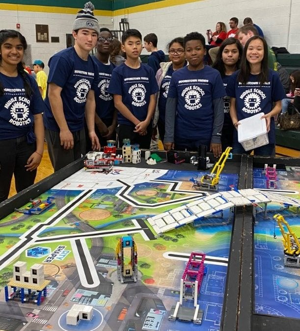Middle School Robotics Club Earns High Marks at LEGO League Competition