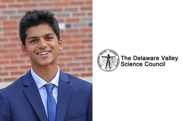 Jalen Patel '20 Wins Excellence in Science Award from Delaware Valley Science Council