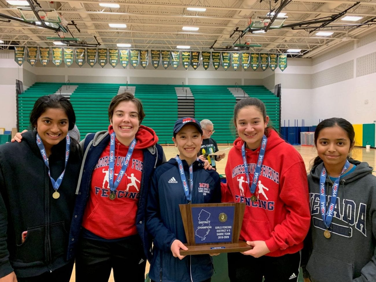 girls fencing district champs 2020 web