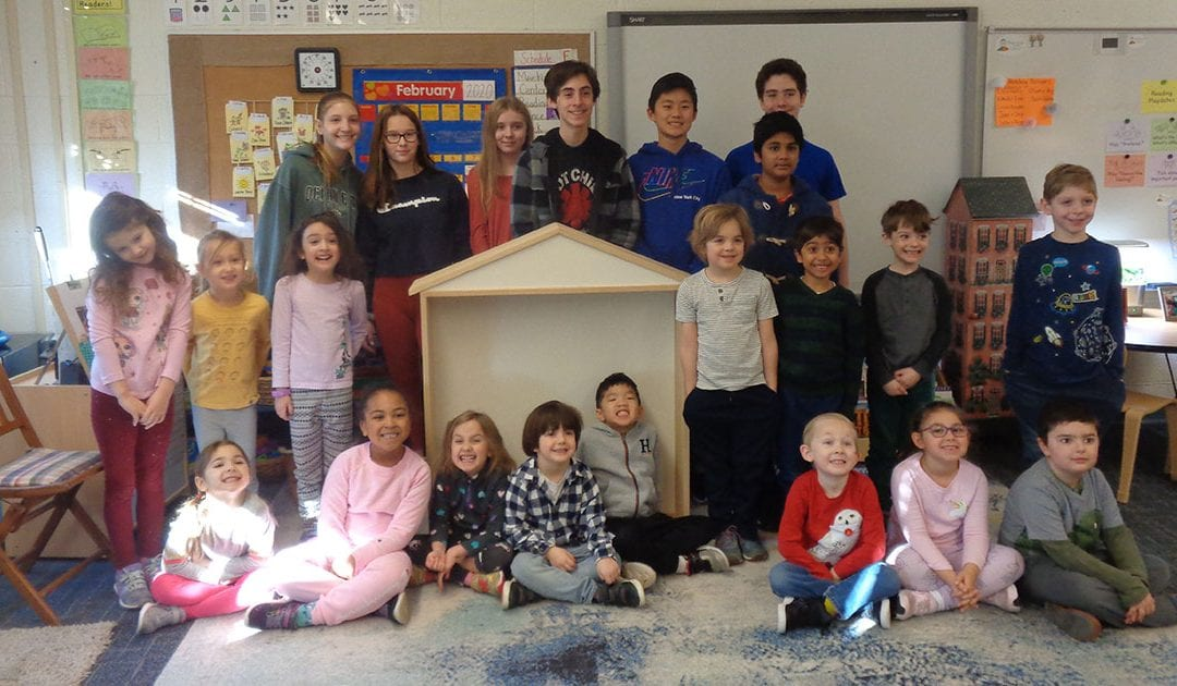 Kindergarten and MS Advisory Collaborate to Design Dollhouse