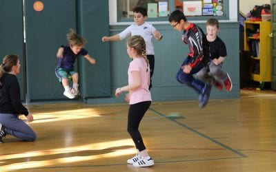Lower School Students Gather for 2020 Jumping 4 George Events