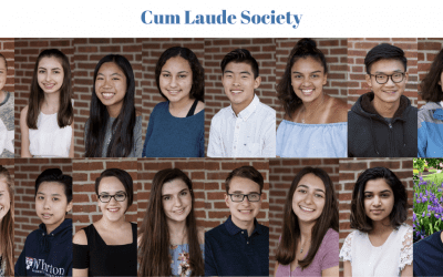 Sixteen Students Inducted Into Cum Laude Society