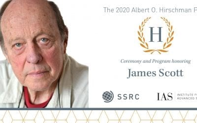 James C. Scott '54 Awarded Albert O. Hirschman Prize